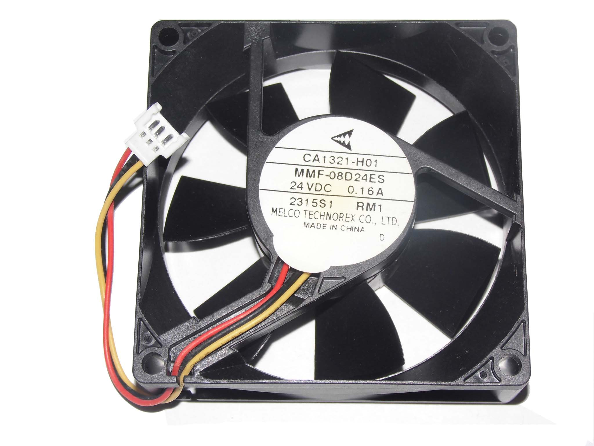 Melco 80MM MMF-08D24ES RM1 24V 0.16A CA1321-H01 3Wire Cooling Fan