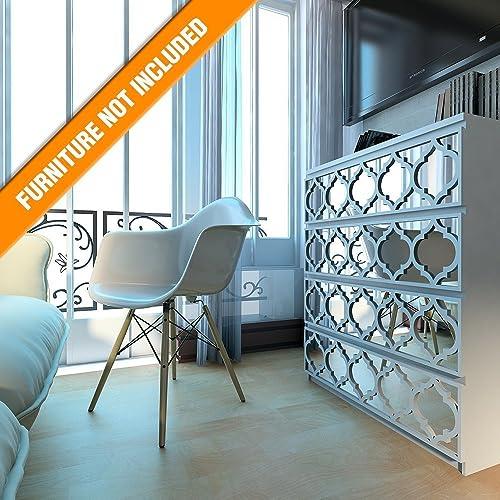 HomeArtDecor | Trellis Gitterwerk | Geeignet für IKEA Malm | 80 x 20 ...