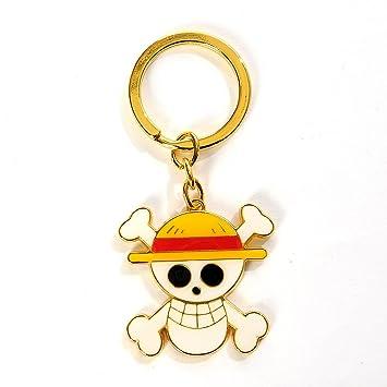 Llavero dorado con el símbolo de los piratas con sombrero de ...