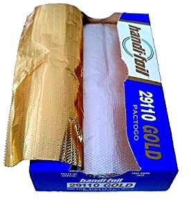 "Handi-Foil 9"" x 10.75"" Gold Interfolded Aluminum Foil Pop-Up Sheets 200/PK (Pack of 200)"