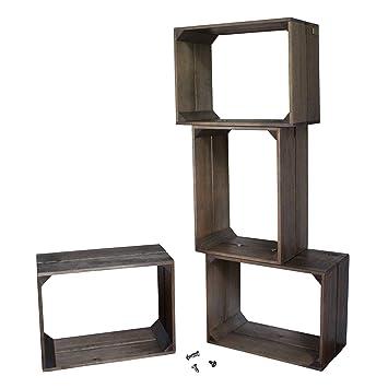 liza line tagre modulable 4 cases en bois bibliothque style caisse vintage meuble de