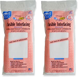 Pellon 15 inches x 3 yards White Fusible Interfacing, 2 Pack