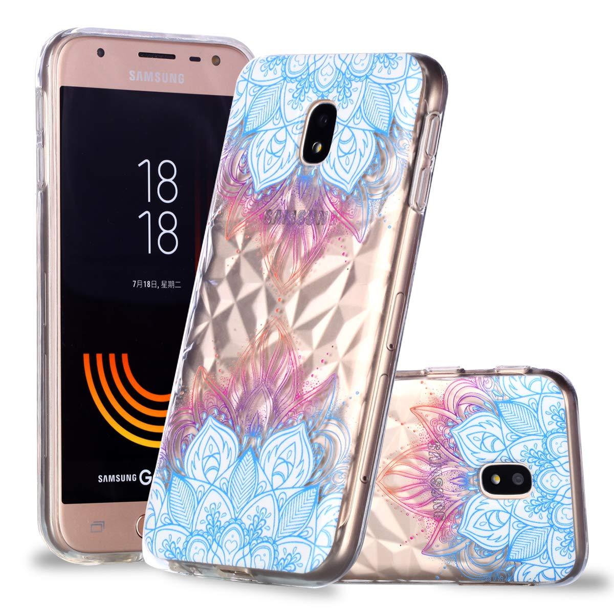 Galaxy J730 Coque Transparente Souple,Samsung Galaxy J730 Case Bumper Transparent en Silicone Ultra Slim Mince en Caoutchouc Coque (5) Wkloer