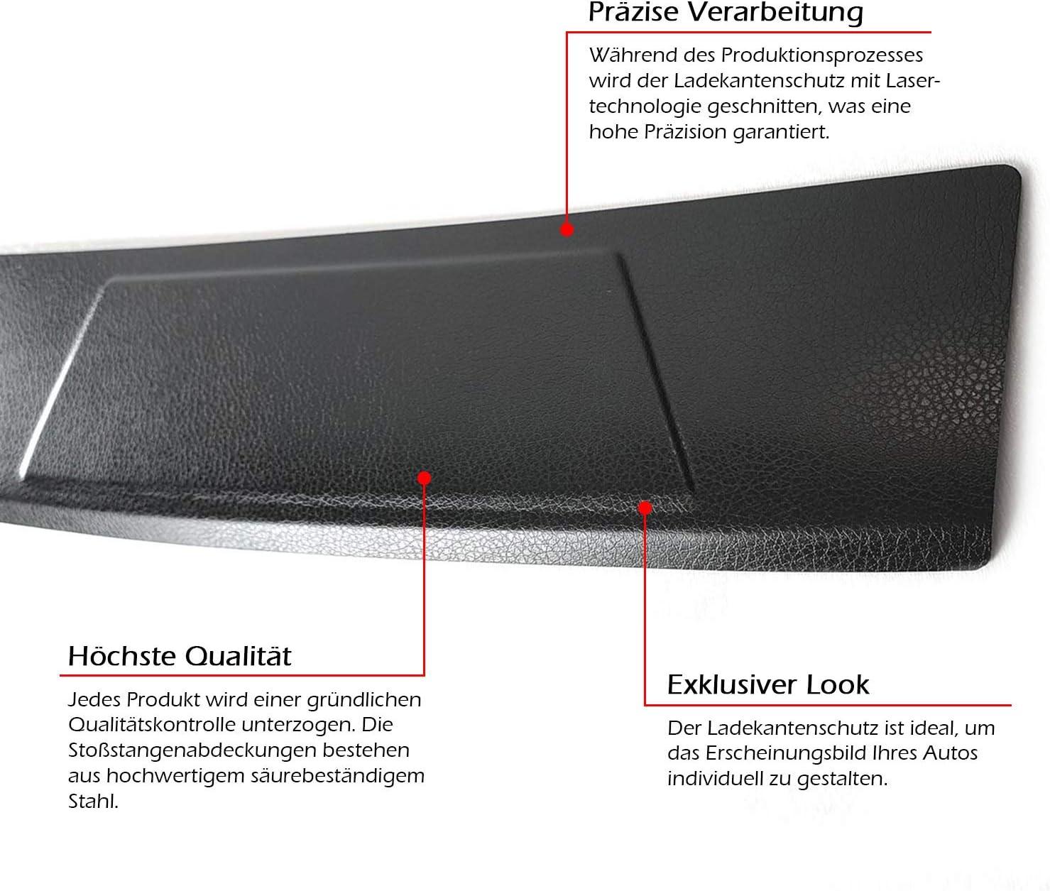 Edelstahl Ladekantenschutz Abkantung Selbstklebend Fahrzeugspezifisch Auto
