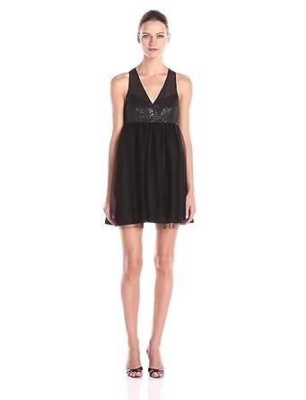 V-Neck Tulle Dress