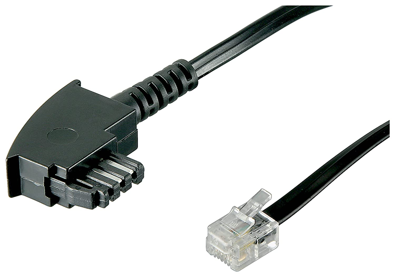 TAE Anschluß-Kabel , Schwarz, 10m: Amazon.de: Elektronik