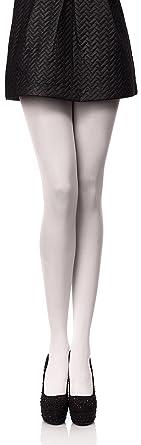Antie Collant Lisse en Microfibre Vêtements Sexy Femme - 40 DEN (Blanc 4f8900f8a16