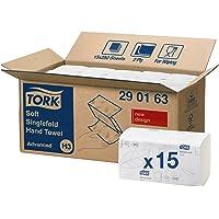 Tork 290163 Toallas de mano de papel Tork Advanced plegadas en V / Toallitas secamanos absorbentes