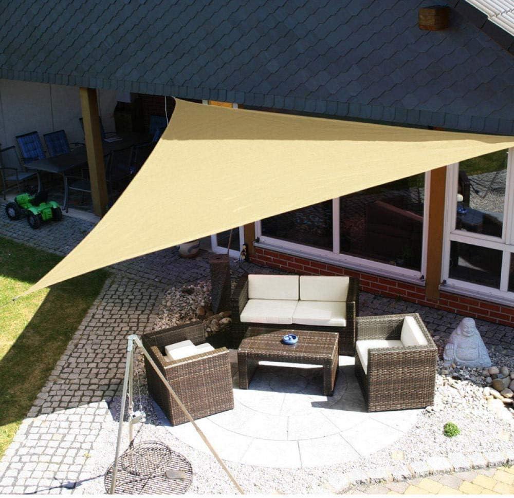 21 Colori Oxford Impermeabile Tenda Triangolare Vela Giardino Patio Baldacchino Nuoto Tenda da Sole Tenda da Campeggio All'Aperto Vela Vela-3.6X3.6X3.6M 5x5x5m