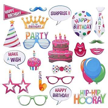 BigBigShop - Fichas de cumpleaños con Sombreros, Vasos ...