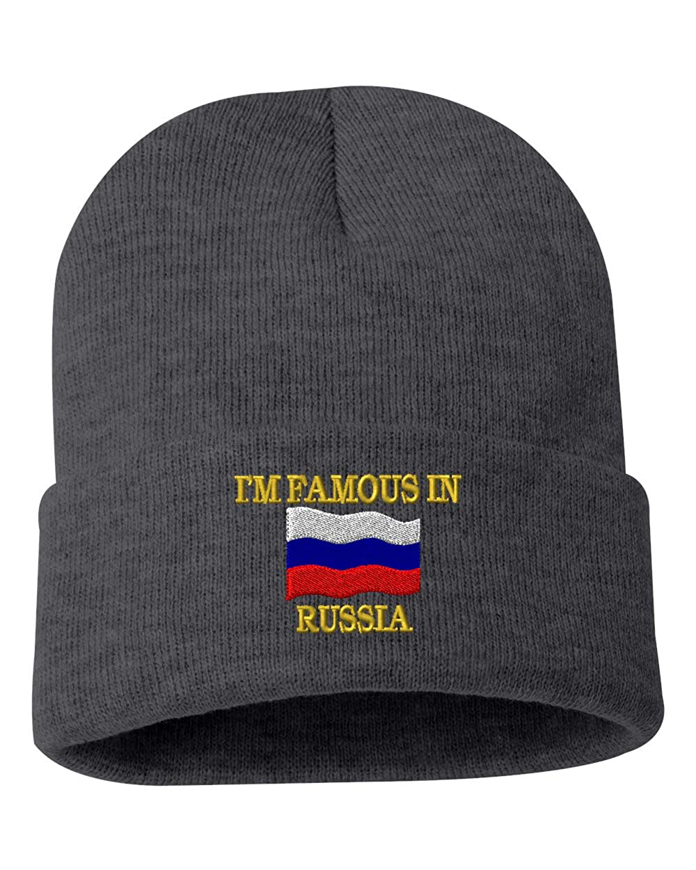 IM FAMOUS IN RUSSIA Custom Personalized Embroidery Embroidered Beanie