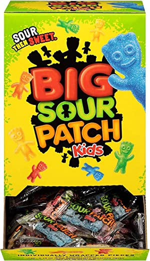 Sour Patch Kids Big Individually Wrapped Soft & Chewy Candy, 240Count,, ()