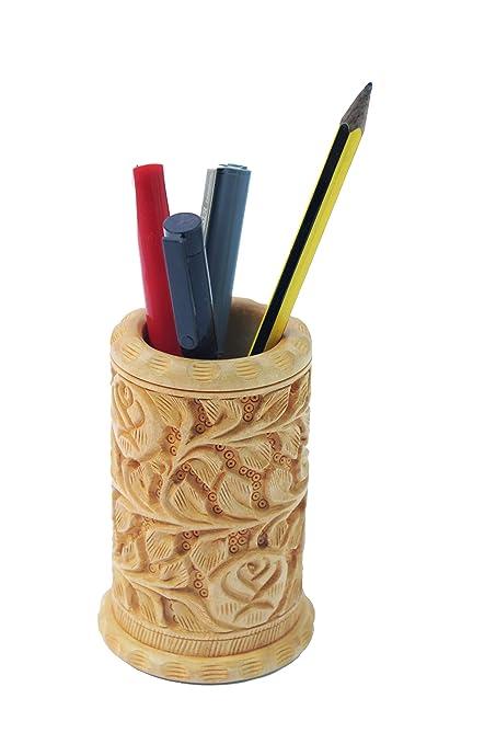 Designs Of Pen Stand : Phoenix artworld wooden pen pencil stand holder designer i