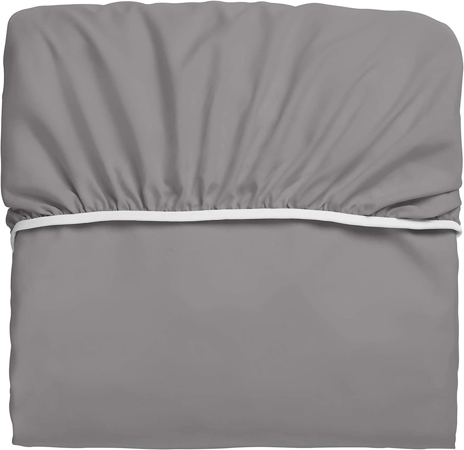 """Extra Deep Pocket Twin XL Bed-Sheets Medium Gray 3-Piece Includes: 18/""""-21/"""" Inch Super Extra Deep Pocket Fitted Sheet Oversize Flat Sheet 1 Zipper Closure Pillowcase Perfectly Fit Twin XL Size"""
