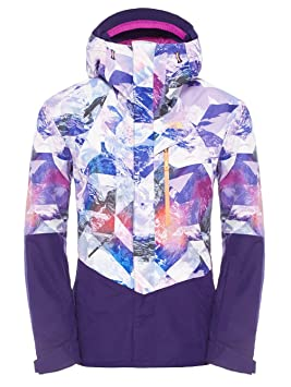 d55f39941d7c The North Face NFZ Insulated Jacket Womens Garnet Purple Mountain Camo  Print S