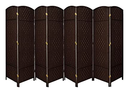 amazon com extra wide diamond weave fiber room divider 8 panel
