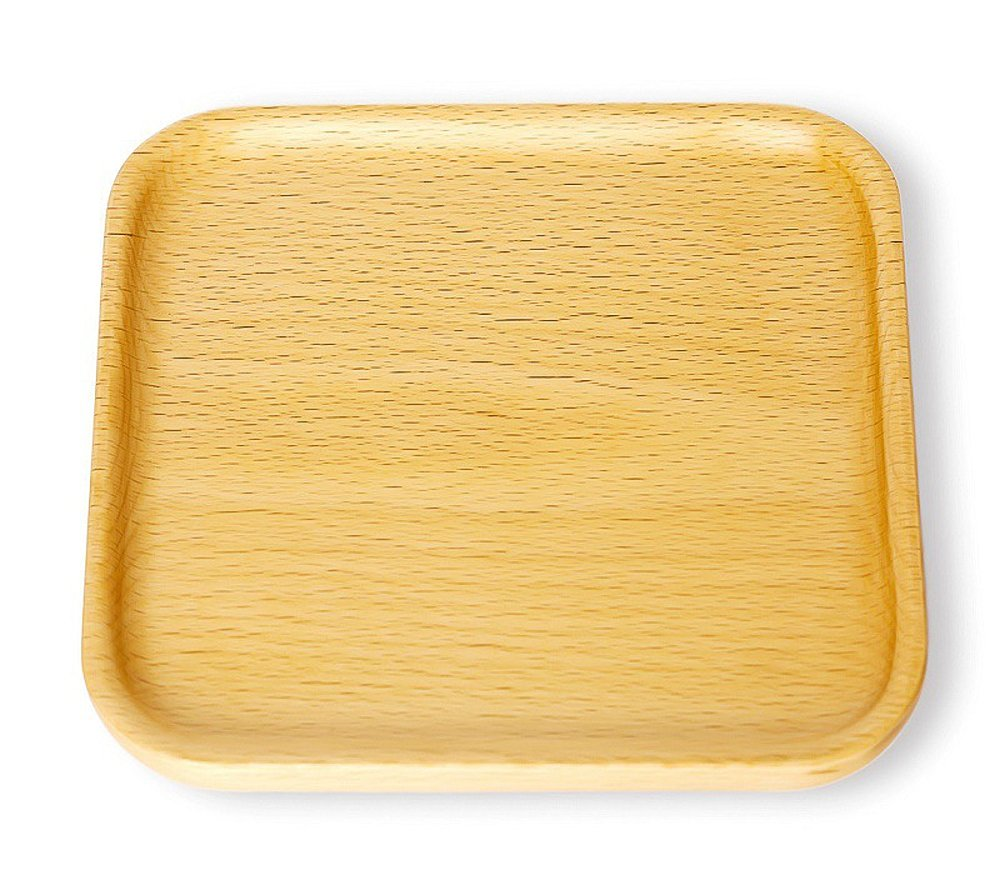 Japanese Style Wooden Tray Solid Beech Wood Serving Tray Tea Tray Beech Plate Serve Plates Wooden Board Wood Serving Tableware (Small Square) by Winterworm (Image #1)