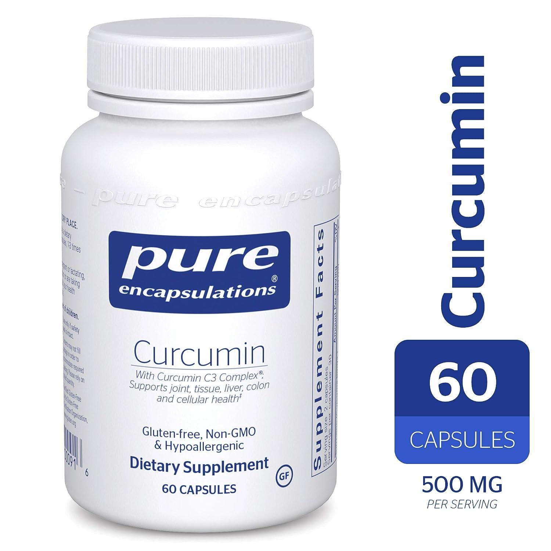 Pure Encapsulations – Curcumin – Hypoallergenic Curcumin C3 Complex – 60 Capsules