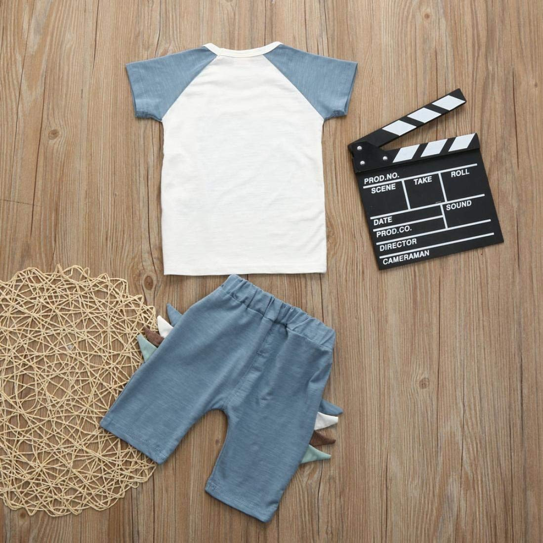 Toddler Baby Boy Girl Short Sleeve Tops T Shirt Shorts Pants Two Piece Set Clothes
