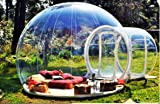 Clear New Millennium Bubble Tent 3-4 person includes inflatable pump and repair kit  sc 1 st  Amazon.com & Amazon.com: Outdoor Single Tunnel Inflatable Bubble Tent Family ...