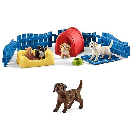 Schleich Farm World 16839 Dalmatiner Welpe Kleinkinder Kinderspielzeug Hund