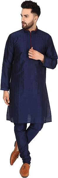 SKAVIJ Seda Kurta Pijama (Camisa Larga y Pantalón) para Hombre: Amazon.es: Ropa y accesorios