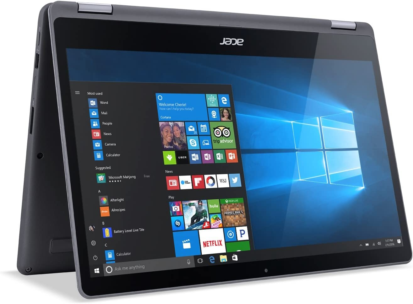 "Acer Aspire R 15 Convertible Laptop, 7th Gen Intel Core i5, 15.6"" Full HD Touch, 8GB DDR4, 1TB HDD, Steel Gray, R5-571T-57Z0"