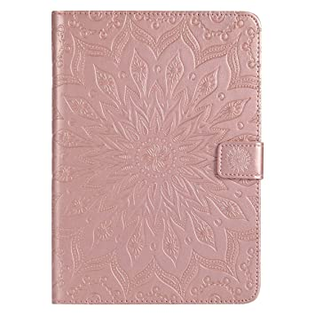 Felfy Ledertasche f/ür iPad Mini 4,iPad Mini 4 H/ülle Leder,iPad Mini 4 Case Rosa Leder Elegante Retro Handyh/ülle Tasche Flip Cover Wallet Sonnenblume Pr/ägung Muster Strap Brieftasche