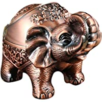 CLISPEED Elephant Cigarette Ashtray Vintage Decorative Windproof Ashtray Creative Animal Fengshui Statue Desktop…