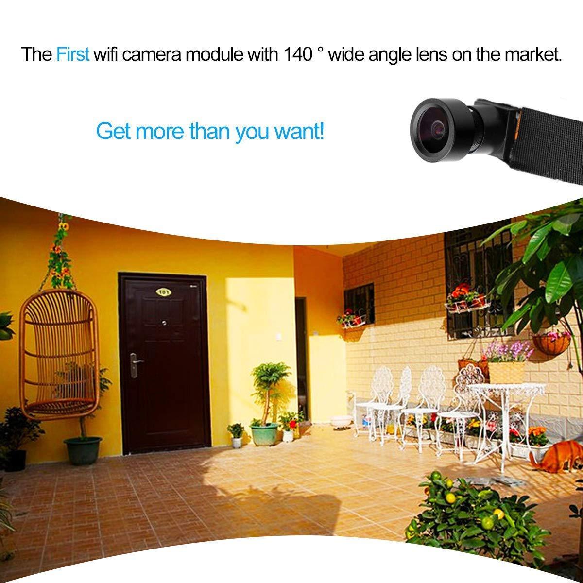 C-Xka Cámara Oculta de HD 1080P DIY Pinhole Cámara pequeña cámara Oculta Video inalámbrico con 140 ° de ángulo Ancho Mini cámara espía WiFi: Amazon.es: ...