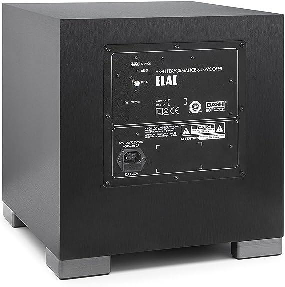 Elac Debut S10eq Lautsprecher 200 400w Schwarz Dekor Elac Audio Hifi