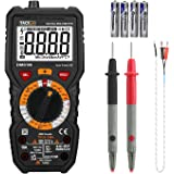 Multimeter, Tacklife DM01M Electrical Tester True RMS 6000 Counts Advanced Meters, AC/DC Voltmeter Ammeter Ohmmeter, NCV Detector, Resistance, Temperature, Live Line Digital Testers with LCD Backlight