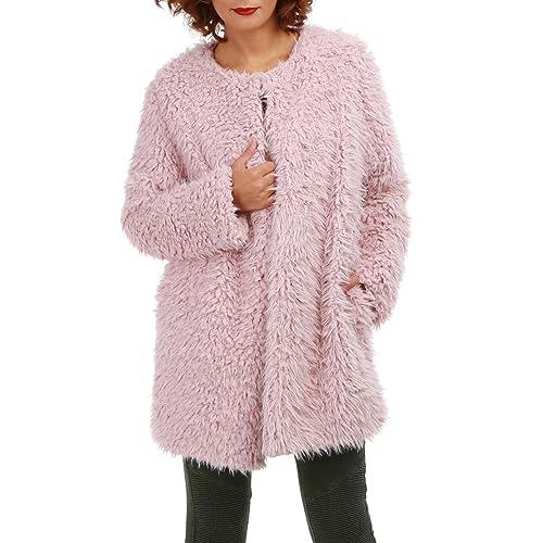 La Modeuse - Abrigo - para mujer Rose Talla única