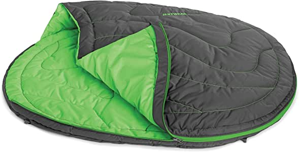 RUFFWEAR - Highlands Dog Sleeping Bag, Water-Resistant Portable Dog Bed for Outdoor Use, Meadow Green