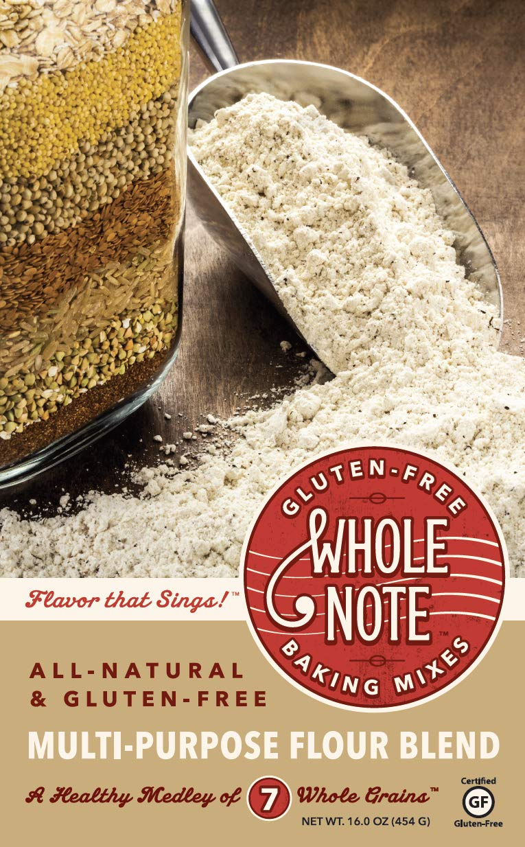 Whole Note Multi-Purpose Flour Blend, 7-Whole-Grain and Naturally Gluten-Free (Pack of 3) by Whole Note