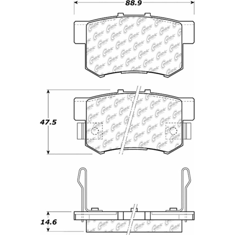 Ceramic StopTech 105.05371 Brake Pad