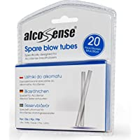 AlcoSense Breathalyser Blow Tubes (Pack of 20) - Suitable for the Zero, Lite, Lite 2, Elite, Elite 2, Elite 3, Excel, Pro and Ultra Breathalyzer