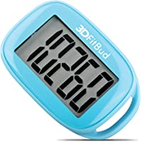 3DActive Simple Step Counter Walking 3D Pedometer with Lanyard, A420S (Blue)