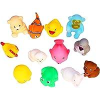 ivee international Soft Bath Plush Chu-Chu Toys (Multicolour) - Pack of 12