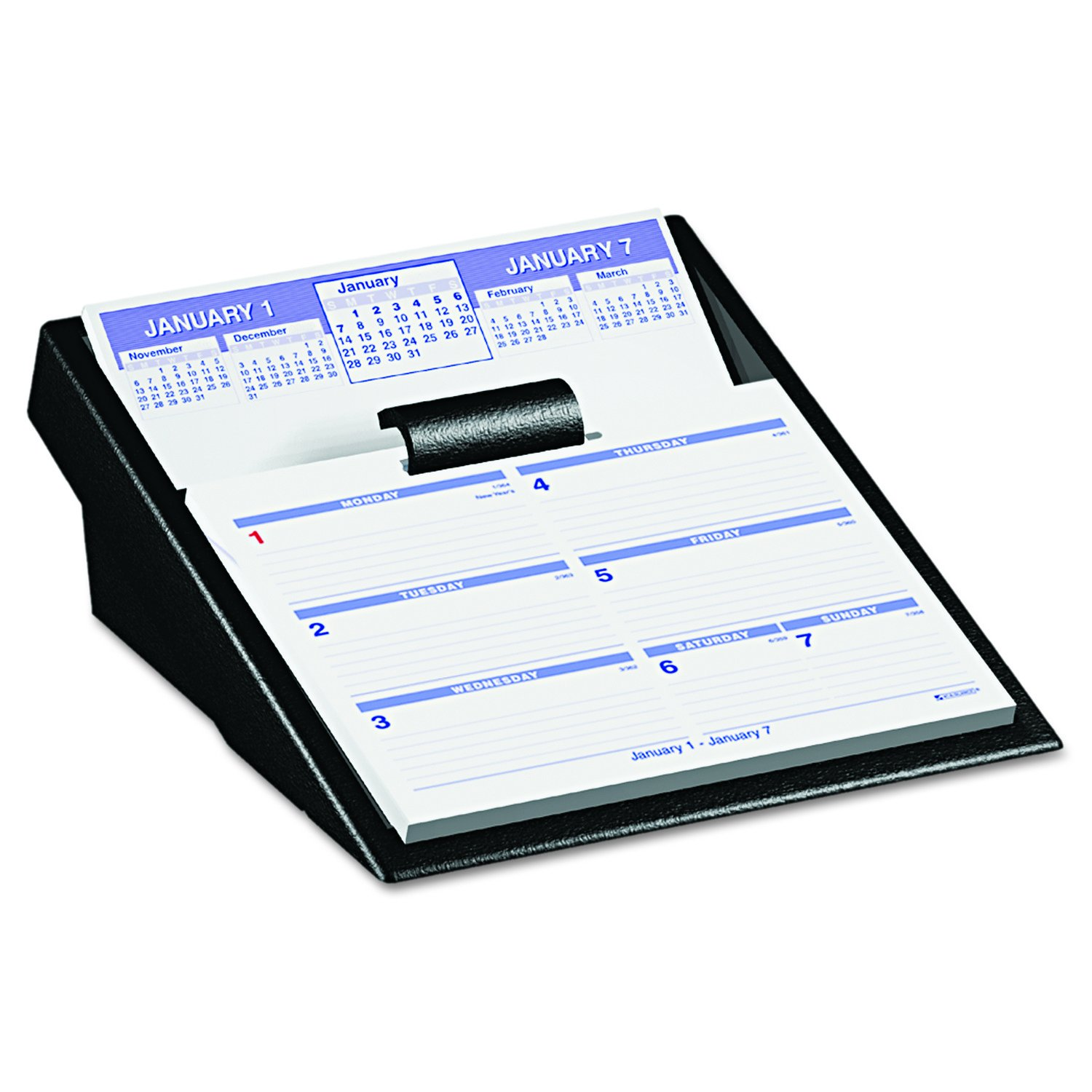 AT-A-GLANCE SW705X50 Flip-A-Week Desk Calendar Refill, 5 5/8 x 7, White, 2016