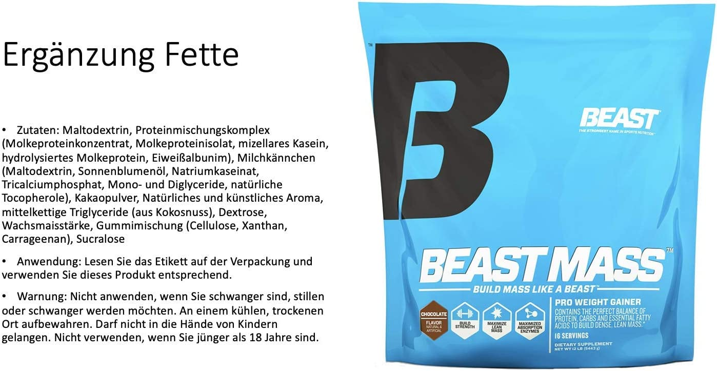 Beast Mass Chocolate 12 lbs: Amazon.es: Salud y cuidado personal