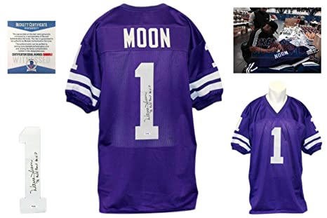 e75ca443959 Image Unavailable. Image not available for. Color: Signed Warren Moon Jersey  ...