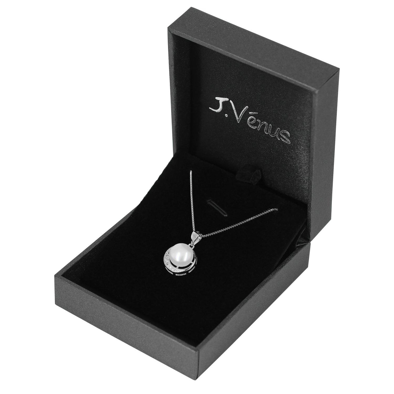 J.Vénus Collar de 925 plata de Ley con Perla Para mujer Set Con una Caja