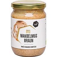 nu3 Crema de almendra para untar - 250 g en tarro de vidrio - Puré de almendra (con cáscara) natural nativa de España e Italia - Mantequilla de semillas orgánicas enteras molidas - 100% sabor natural