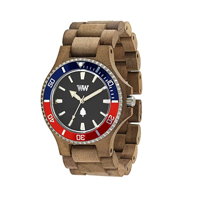 We Wood DATE MB NUT ROUGH FRENCH  Amazon.co.uk  Watches 7ac04243f83