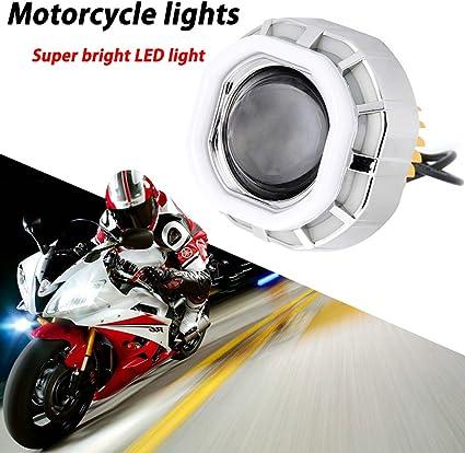 TABEN Kit de proyector LED 12 V U11 de alta/luz de cruce Angel ...