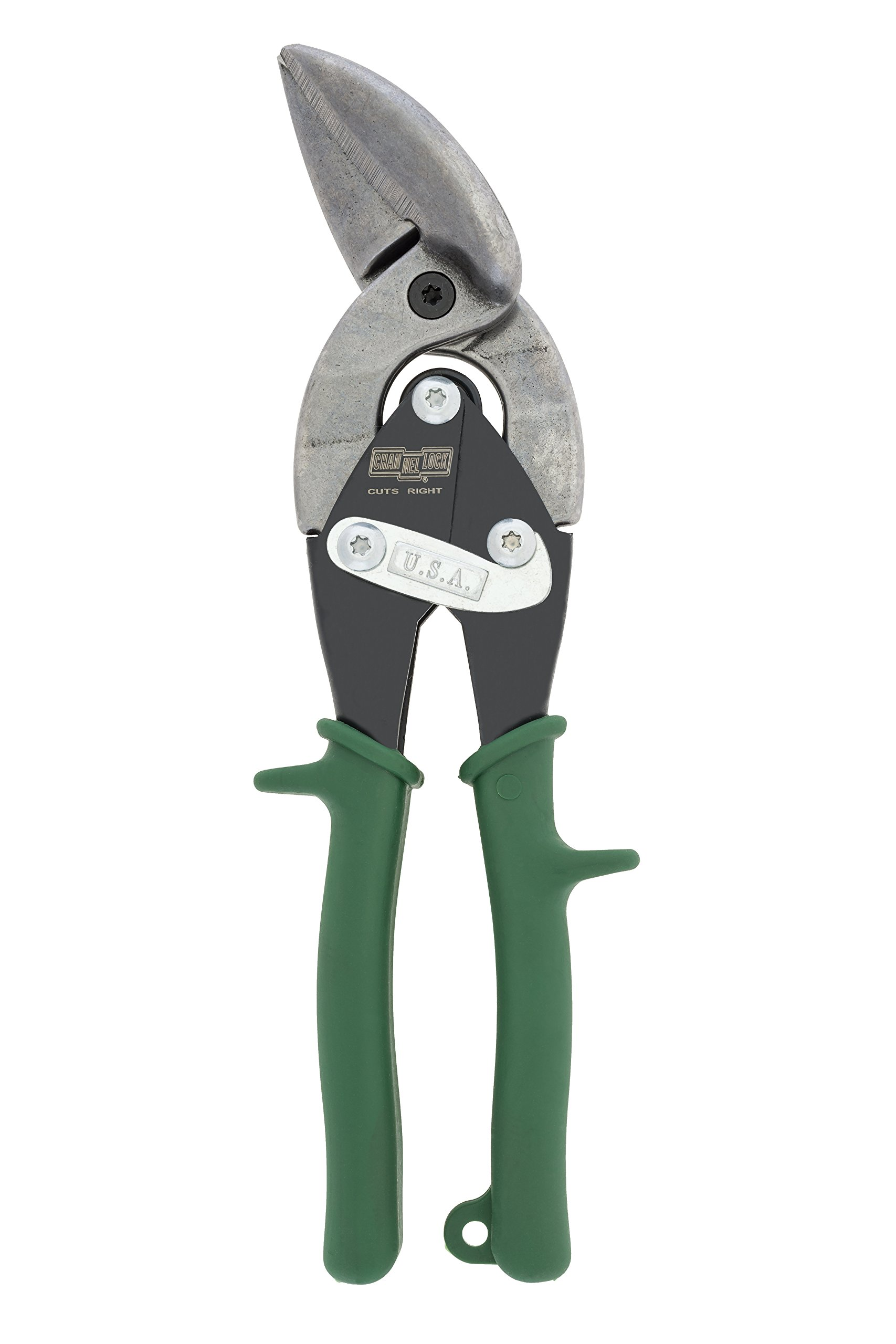 Channellock 610FR 10'' Offset Right Cut Aviation Snips