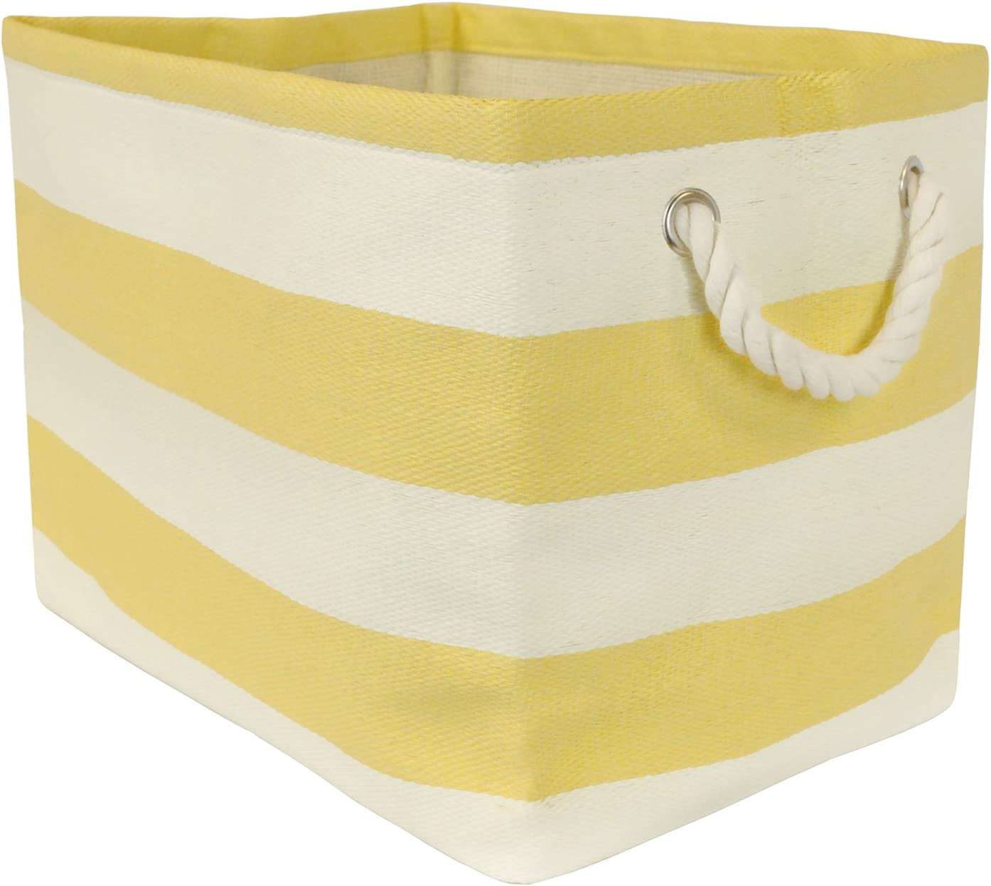 "DII, Woven Paper Storage Bin, Collapsible, 15x10x12"", Rugby Yellow"