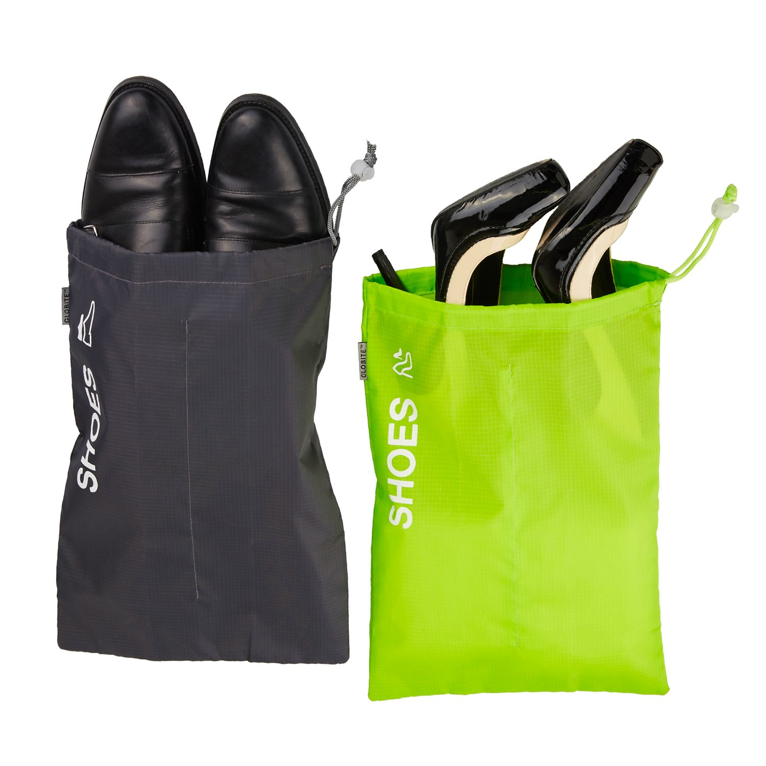 Storage Gym 2 pcs Office and Dance Tote//Pouch Shoe Bags for Travel Keeps Dirt Out of Your Luggage