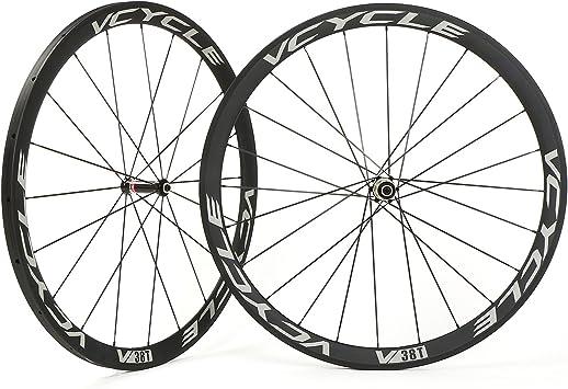 vcycle v38t carbono ruedas Tubular 38 mm 700 C bicicleta de carretera ruedas de tracción directa, for Campagnolo: Amazon.es: Deportes y aire libre